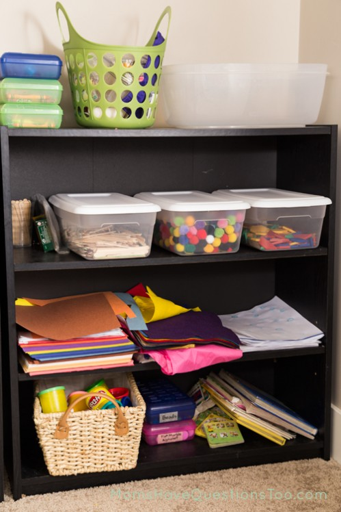 Organization for School Room Supplies - Moms Have Questions Too