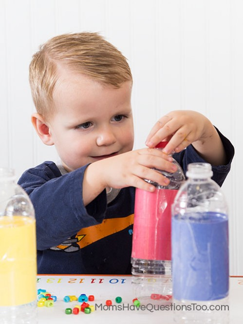 Put the lid on a waterbottle - Moms Have Questions Too