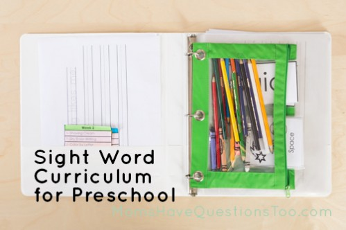 Sight Word Curriculum Week 2 - Moms Have Questions Too
