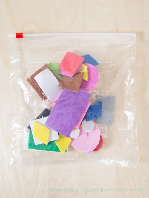 Sorting Shapes Busy Bag - Moms Have Questions Too