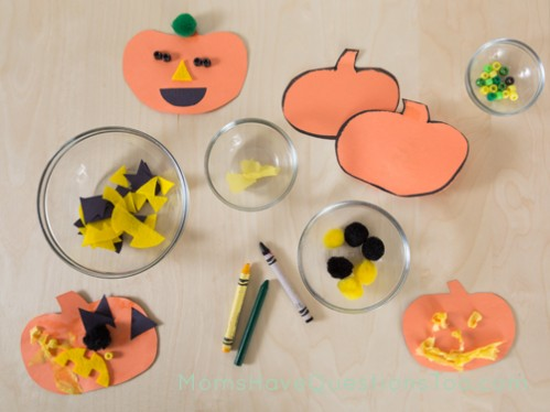 Supplies for pumpkin decorating craft - Moms Have Questions Too
