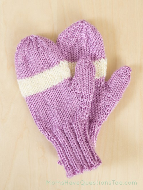 Childrens Mittens Free Knitting Pattern - Moms Have Questions Too