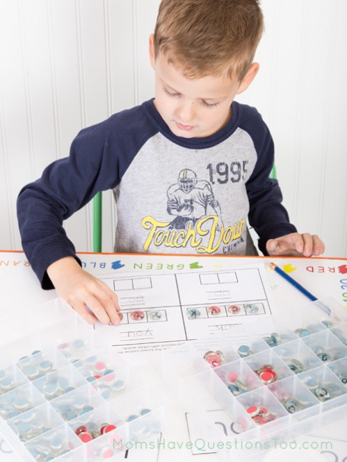 DIY Montessori being used with the sight word curriculum - Moms Have Questions Too