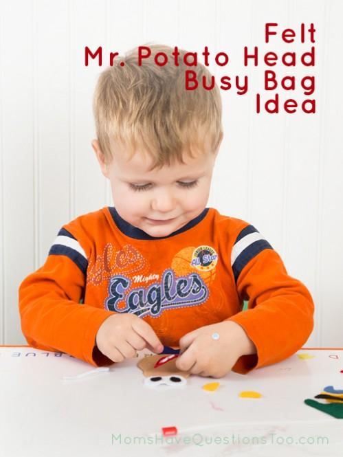 Felt Mr Potato Head Busy Bag Idea - Moms Have Questions Too