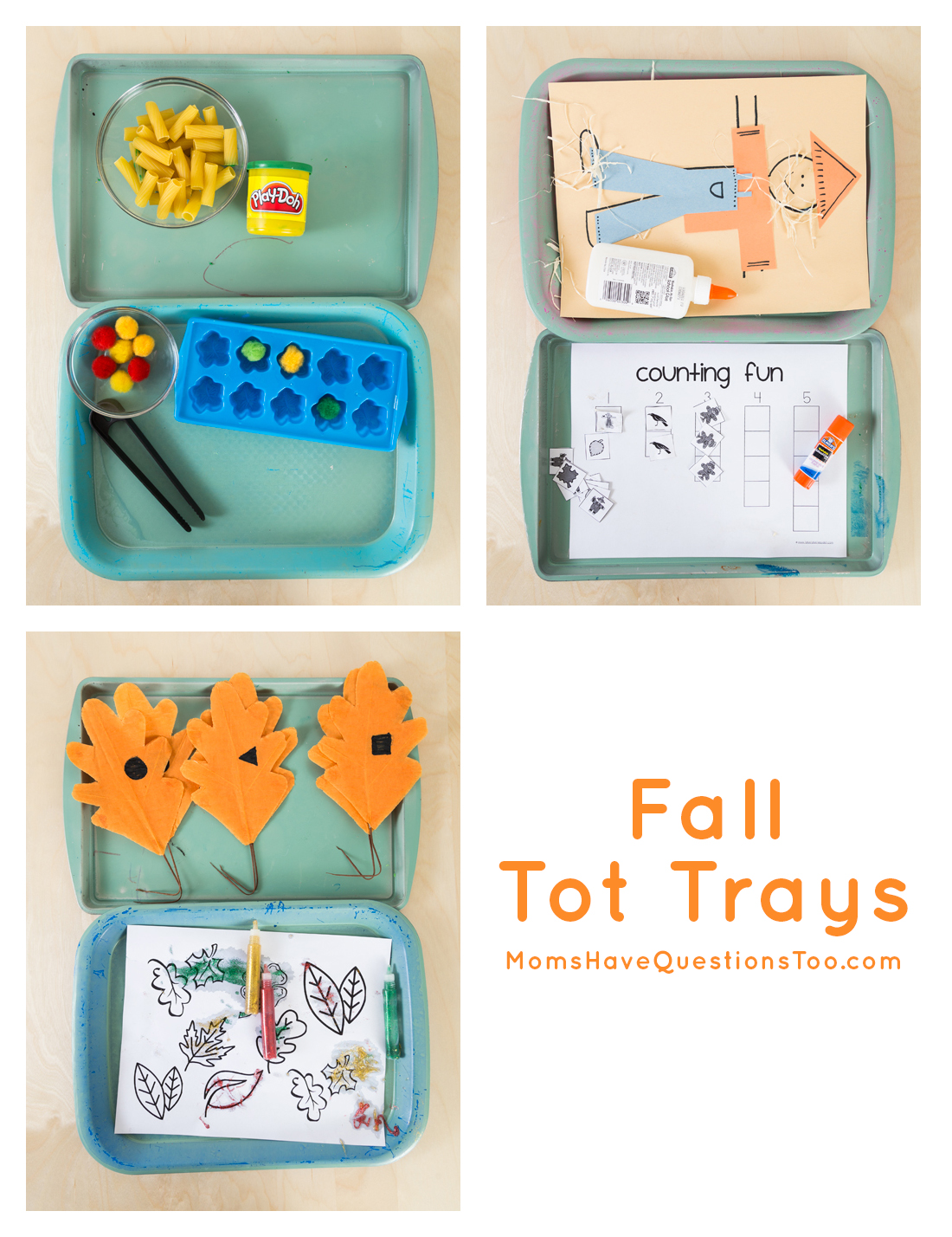 Great activities for Fall Tot Trays - Moms Have Questions Too