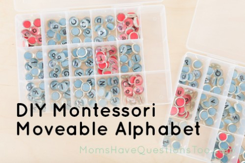 Make your own Montessori moveable alphabet - Moms Have Questions Too