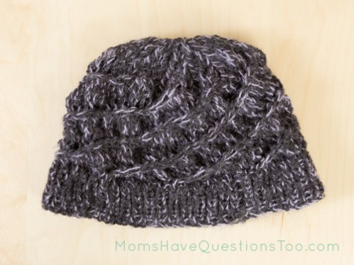 Spiral Hat Free Knitting Pattern - Moms Have Questions Too