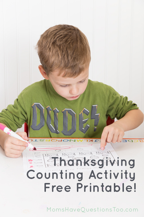 Thanksgiving Counting Printable - Moms Have Questions Too