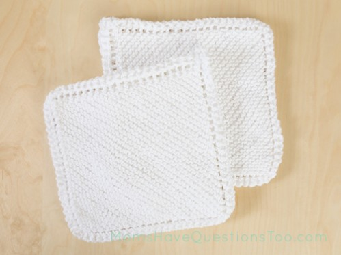 Washcloths Free Knitting Pattern - Moms Have Questions Too