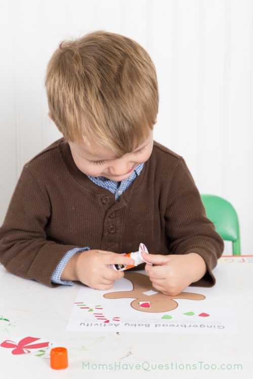 Decorating a Gingerbread Baby - Moms Have Questions Too