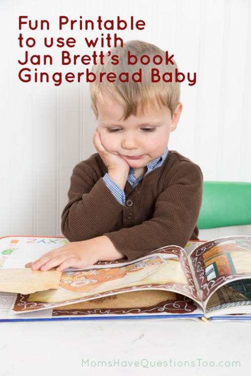 Fun activity to use with Jan Brett's book Gingerbread Baby - Moms Have Questions Too