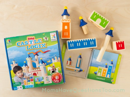 Contents of Castle Logix - A fun game for preschool and kindergarten aged children - Moms Have Questions Too