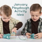 January Seasonal Play Dough