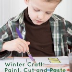 House Paint, Cut, and Paste Winter Craft