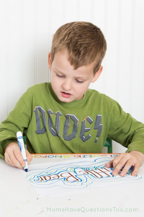 Pattern Name Art with Markers - Moms Have Questions Too