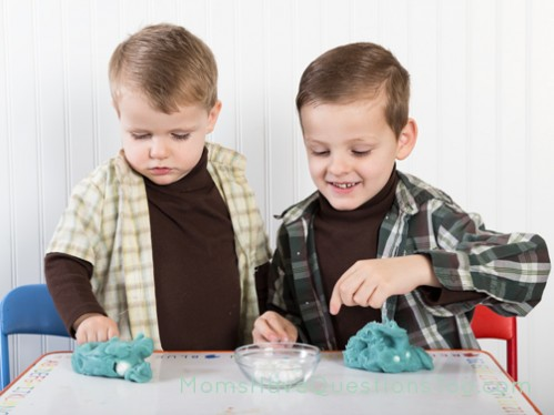 Play dough Treasure Hunt - Moms Have Questions Too