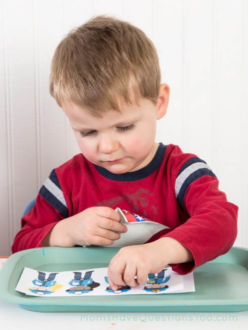 Community Helpers Tot Tray Ideas - Moms Have Questions Too