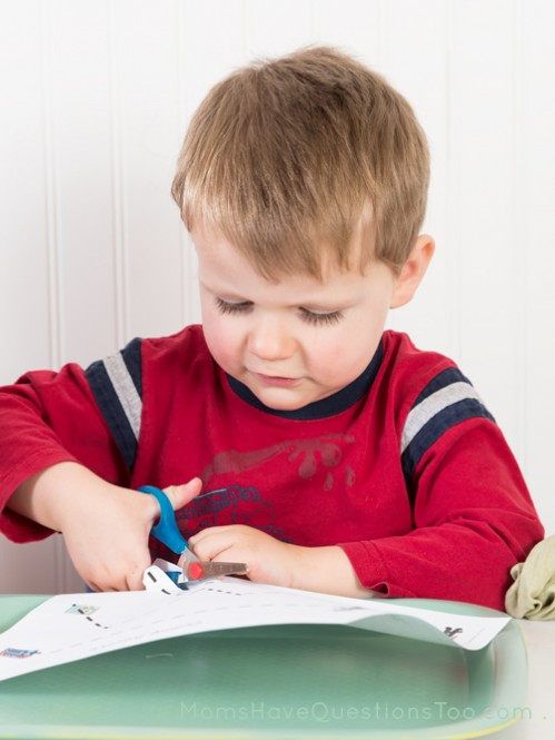 Cutting Practice for Toddlers with Letter C Homeschool Curriculum - Moms Have Questions Too