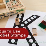 5 Ways to Use Alphabet Stamps