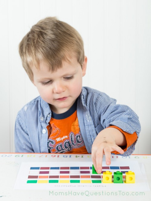 Math cupe patterns free printable. Great for math and fine motor development. Moms Have Questions Too