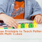 Math Cube Patterns with Free Printable