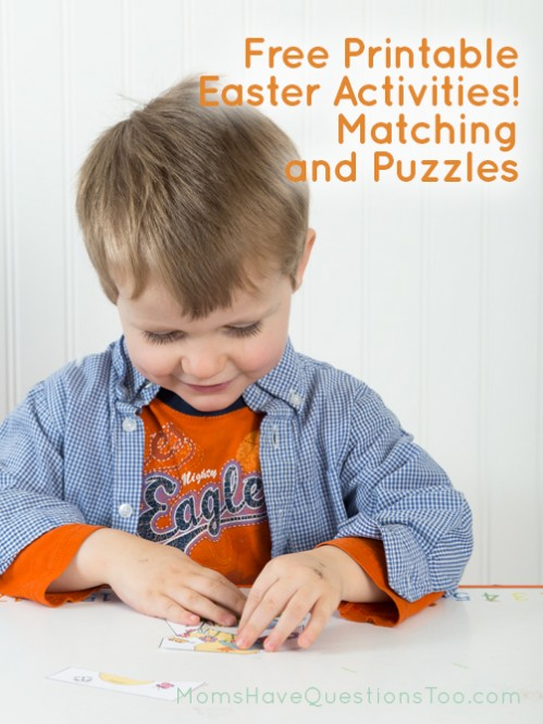 Free printable Easter activities you can do with your toddler or preschooler! Moms Have Questions Too