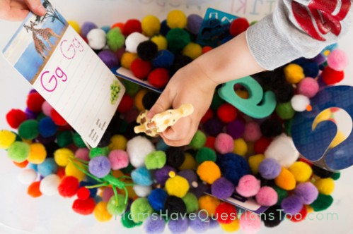 G is for Garden Sensory Bin - Moms Have Questions Too