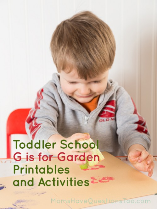 G is for Garden tot school - Tot tray ideas, printables, craft, and more all for a garden theme - Moms Have Questions Too