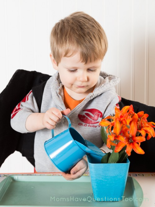 Practice Watering Plants - Moms Have Questions Too