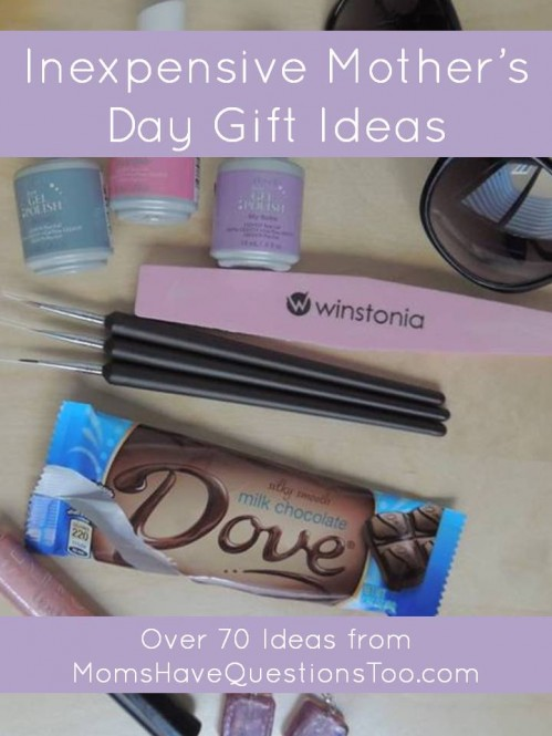 Over 70 Inexpensive Mother's Day Gift Ideas
