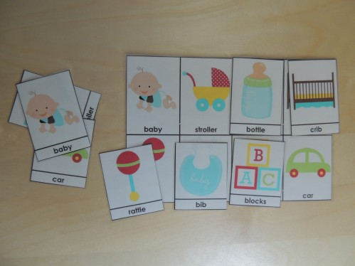 Montessori 3 Part Cards - Leave one page uncut, then cut out the other cards and match them to the full page.