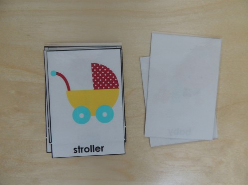 Use Montessori 3 Part Cards as flashcard-like vocabulary cards to teach your child words.