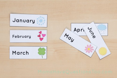 Use 6 months at a time to practice the order of the months - Moms Have Questions Too