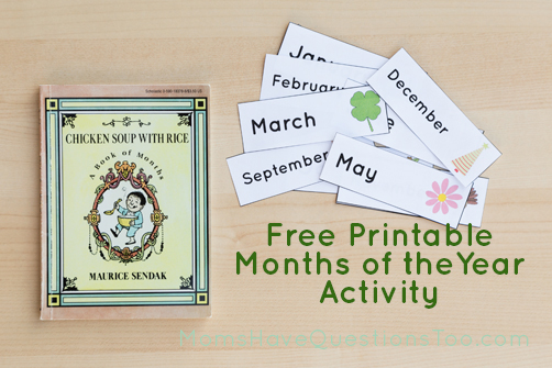 Use this fun book and printable to help teach your child the months of the year! Moms Have Questions Too