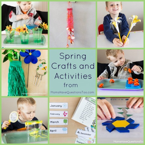 11 Easy Spring Crafts and Activities. Great for toddlers and preschoolers. Ideas for tot trays, learning activities, crafts, and more.
