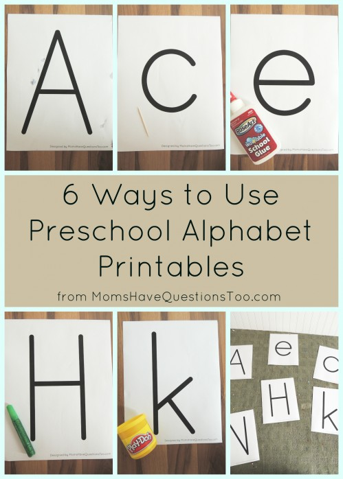 6 Way to Use Preschool Alphabet Printables