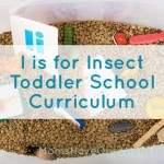 Toddler Homeschool Curriculum I is for Insect