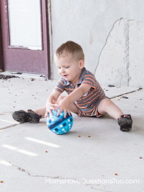 Catch a Ball for Gross Motor Development - Moms Have Questions Too
