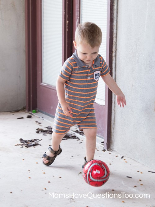 Chase a Ball for Gross Motor Development - Moms Have Questions Too