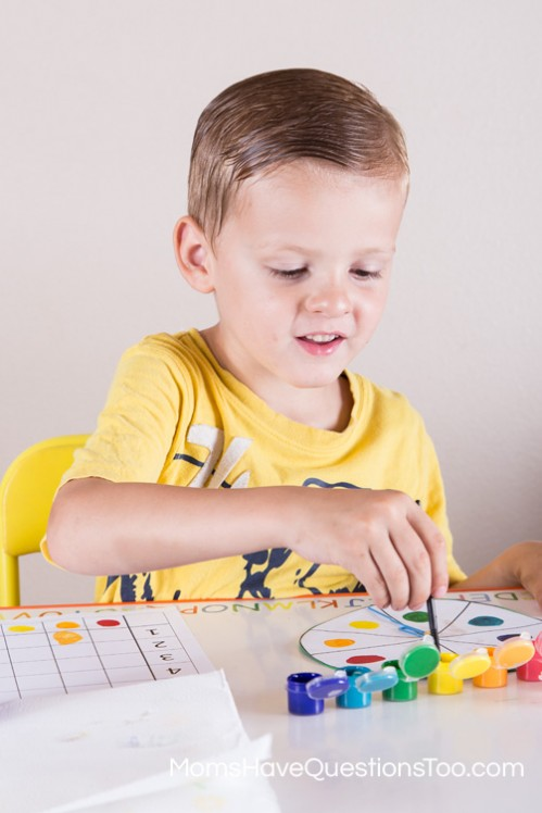 Colors Spin and Graph Activity for Preschool - Moms Have Questions Too