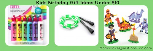 Over 100 unique and inexpensive birthday gift ideas for kids! Includes a free printable list to take with you as you shop!