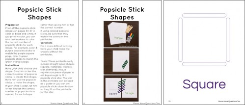 Shape Activity Pack Pages by Moms Have Questions Too