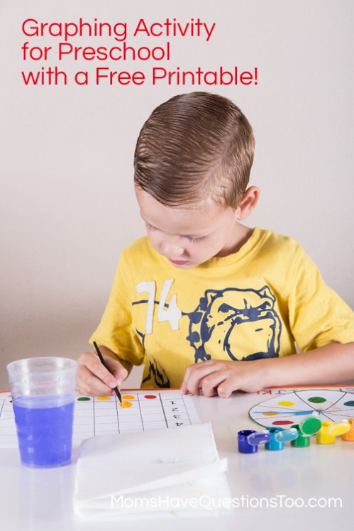 Spin and Graph Colors with Free Printable! Moms Have Questions Too