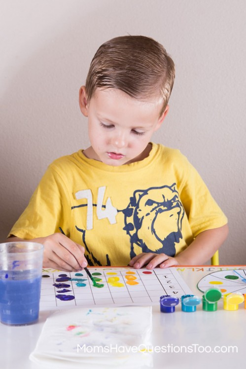 Spin and Graph Preschool Activity - Moms Have Questions Too