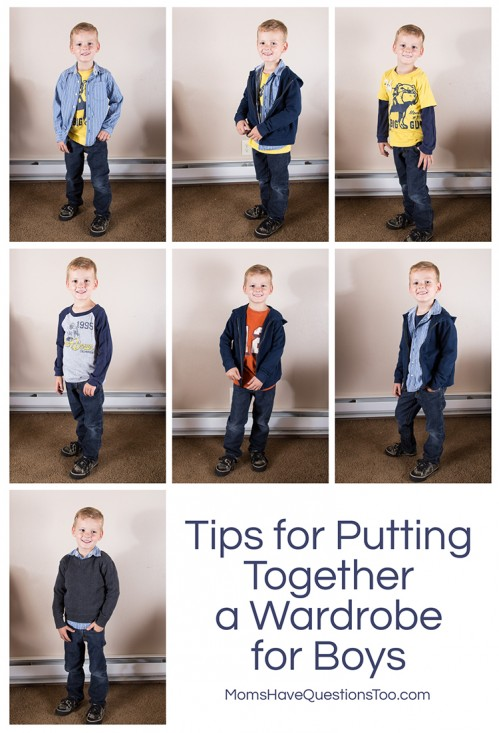 How to Put Together a Wardrobe for Boys - Moms Have Questions Too