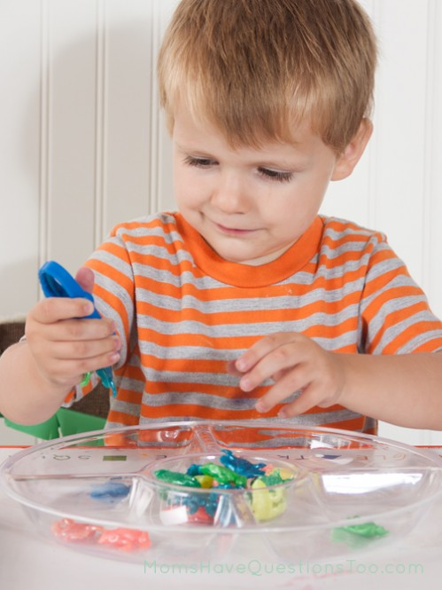 Sorting with Kid Tweezers. J is for Jungle Toddler School. Tons of great ideas to teach the letter J, plus beading, sorting,and more!