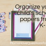 Free Printable Pages for a K-12 School Papers File