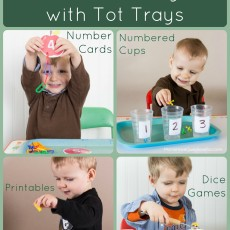 Teach Numbers and Counting with Tot Trays