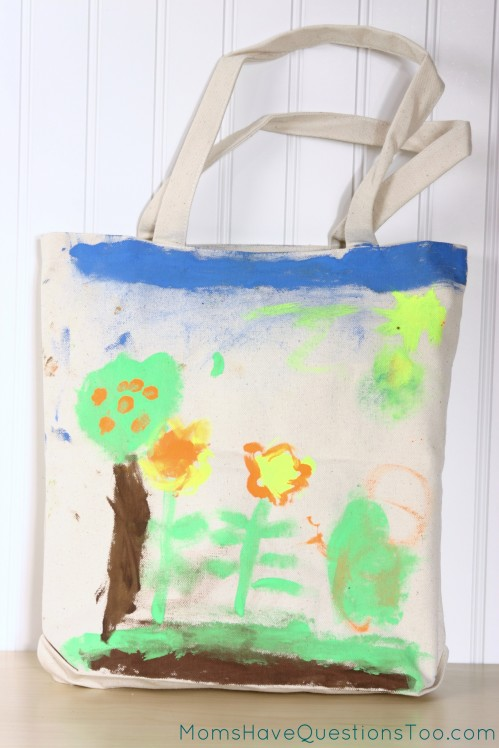 Paint a Canvas Bag to Hold Library Books. It's durable and adorable!!!