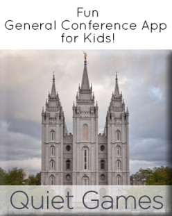 General Conference Quiet Games for Children